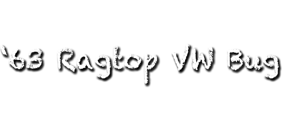 White Bug On I-95, Fort Lauderdale, Florida | 63 Ragtop VW
