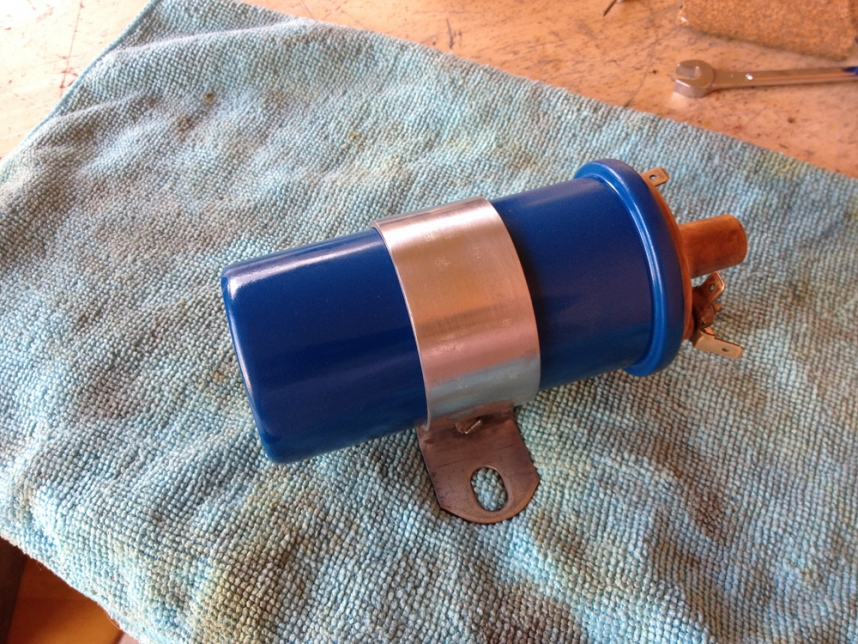 Painted My VW Beetle's Engine Coil Back To Blue!